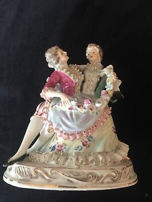 UNBRANDED Porcelain French Man/Woman Embracing