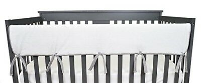 American Baby Company Heavenly Soft Chenille Reversible Crib Cover for Long Rail