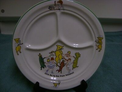 """Vintage Shenango Heavyweight  China Plate ~ 9 5/8"""" -Lets Go To The Pig'n Whistle"""