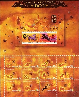 2006 Christmas Island Year of the Dog stamps