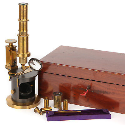 A Large French Drum Microscope By Charles Chevallier, Paris, C.1839