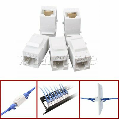 5PCS Female to Female Cat6 Inline RJ45 Keystone Wall Coupler Jack Adapter