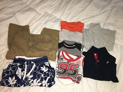 Lot of 8 Boys Toddler Clothes Size 3T- 6 Shirts/Swim Trunks/Pants