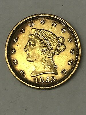 1853 $2.50 Liberty Gold Coin Very Nice Addition For Your Collection