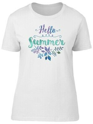 Hello Summer Cute Flowers Women's Tee -Image by Shutterstock