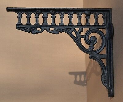 Industrial Style Cast Iron Gallows Brackets Shelf Bracket Vintage Design - Lg112