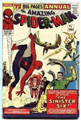 AMAZING SPIDER-MAN ANNUAL #1-1964-FIRST SINISTER SIX -blank variant -1964.