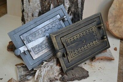 25,5 x 17 Cast iron fire door clay / stove bread oven / Chimney Clean Out /DZ067