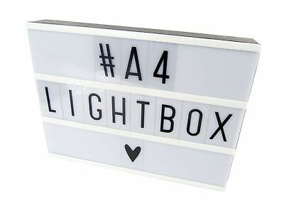 Cinematic UK A4 Cinema Light Up Letter Box Sign Lightbox DIY Message Board Party