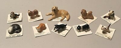 Hagen Renaker Large Lot Collection of 10 DOGS and CATS - All On Card