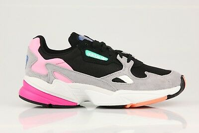 1d23c513fc06 Adidas Originals Falcon Black Pink Core Granite WOMENS DAD Shoes Sneakers  BB9173
