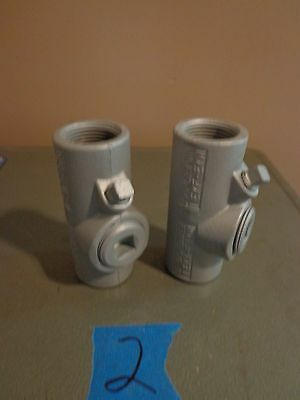 "2 NEW Appleton Electric EYF-EYM Vertical & Horizontal Conduit 1"" NEW"
