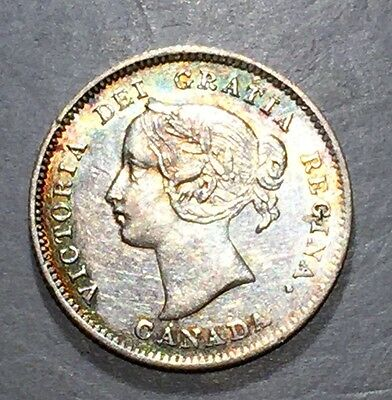 CANADA 1871 7/7 5 Cents K-2    **FREE SHIPPING**