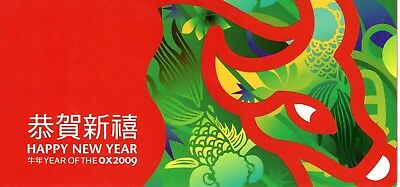 2009 Christmas Island Year of the Ox Post Office Minisheet Pack