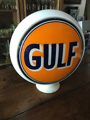Rare Original Gulf Gas Pump Globe From Old Tennessee Gas Station