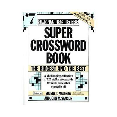 Simon and Schuster's Super Crossword Book by Eugene T Maleska (author)