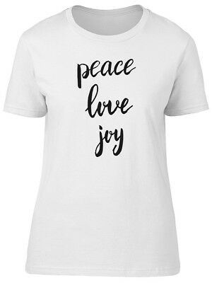 Peace Love Joy Simple Quote Women's Tee -Image by Shutterstock