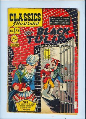 July 1950 The Black Tulip No. 73 Classics Illustrated Comic Book (Inv. No. 167)