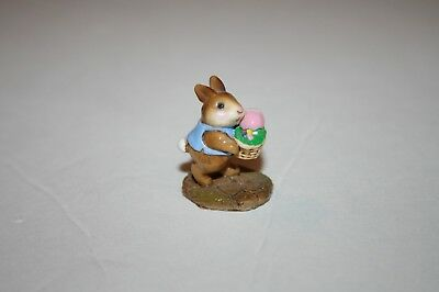 Wee Forest Folk B12 TINY EASTER BUNNY WFF 1983 Bunny Rabbit BASKET egg