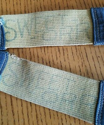 Vintage SWEET ORR Denim Suspenders Antique Clothing Farmer Jeans Adult adjustabl