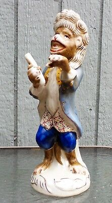 "Antique MEISSEN Big Band MONKEY Figurine, Composer or Conductor 10.1/4"" h N/R"