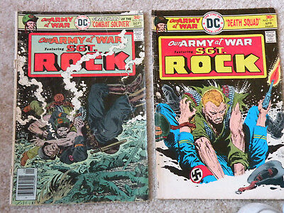 2 DC, SGT ROCK, Our Army At War Comics #290 1976 & # 296 1976
