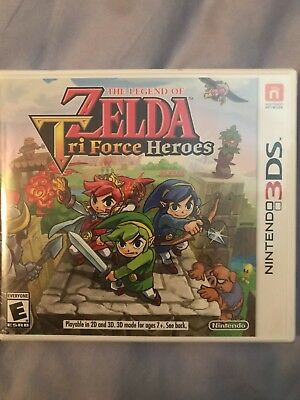 Legend of Zelda: Tri Force Heroes (Nintendo 3DS, 2015) BRAND NEW
