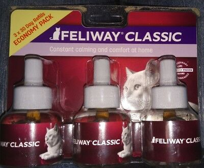 Feliway Classic Calming Diffuser Refills for Cats, Economy 3-Pack