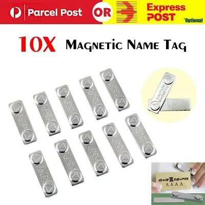 New 10 x Strong Magnetic Name Tag Badge Fastener ID Holder Card Magnet