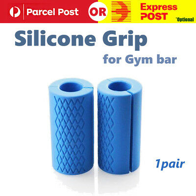 1 Pair Thick Fat Barbell Silicone Grips Home Gym Arm Wrap Bar Dumbbell Grip
