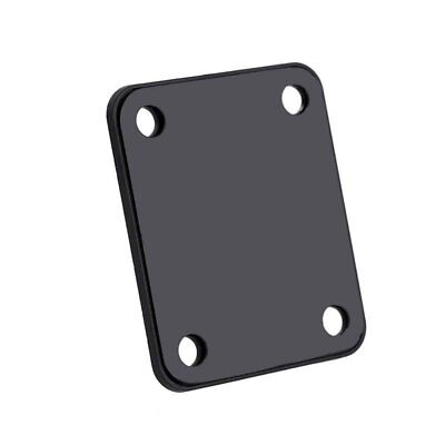 Black Chrome Guitar Neck Plate with 4 Screws for Electric Fender Strat Tele H3