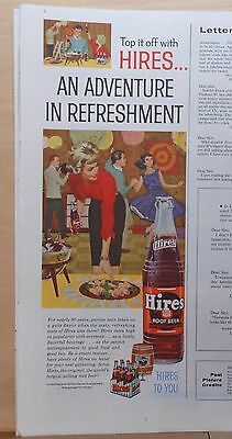 1960 magazine ad for Hires Root Beer - teen party, Adventure in Refreshment