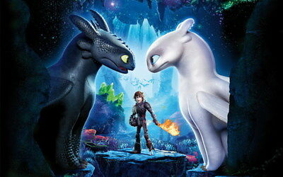 """002 How to Train Your Dragon 3 - Action Adventure USA Movie 22""""x14"""" Poster"""