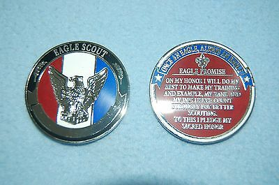 Boy Scouts Of America Eagle Scout Engraveable Challenge Coin