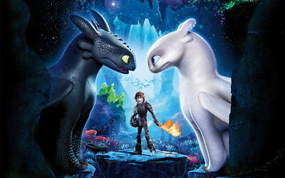 """002 How to Train Your Dragon 3 - Action Adventure USA Movie 38""""x24"""" Poster"""