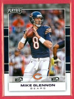 2017 PLAYOFF (FB) Mike Glennon SP 2ND DOWN PARALLEL Card (#17) #'ed 23/49 BEARS