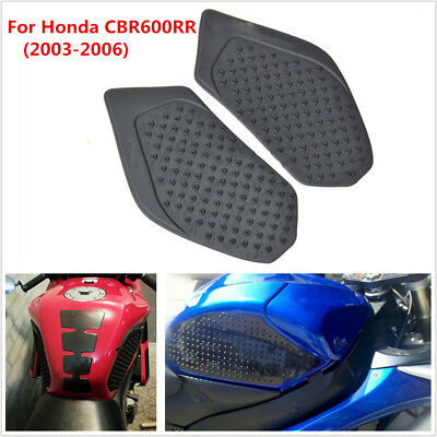 Pair Tank Traction Pad Side Fuel Gas Knee Grip Sticker For Honda CBR600RR 03-06