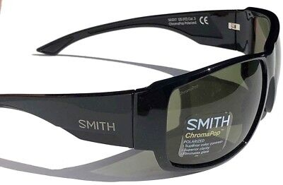 ac823cfbec1 NEW  SMITH Optic DOCKSIDE Black w ChromaPop POLARIZED Gray Green Sunglass