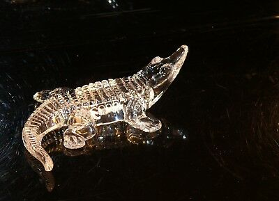 Waterford Ireland 24 % Crystal  Alligator !!  Very Rare  Now Retired