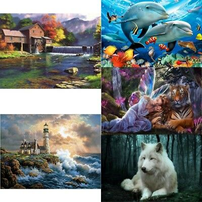 Frameless 5D DIY Diamond Painting Cross Stitch Kit Natural Scene DIY Home Decor