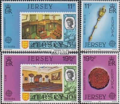 united kingdom - Jersey 299-302 (complete.issue.) unmounted mint / never hinged