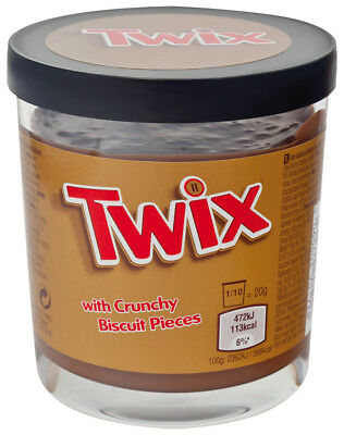 TWIX CRUNCHY BISCUIT CHOCOLATE SPREAD SNACK BAR JAR 200g NUTELLA HAZELNUT CHOC