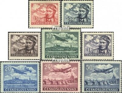 Czechoslovakia 493-500 (complete.issue.) fine used / cancelled 1946 Airmail