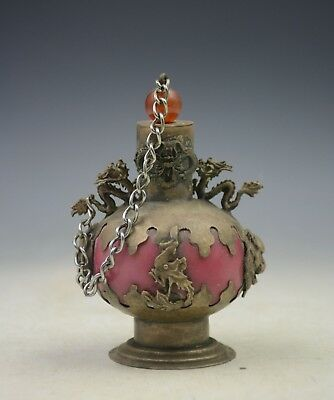 Chinese collection brass handmade snuff bottle