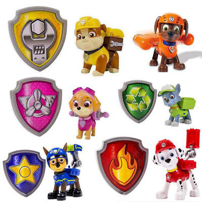 6 Stück PAW Patrol Action Figuren Chase Rubble Skye Marshall Kinder Spielzeuge