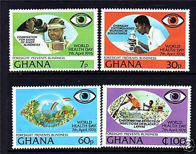 Ghana 1976 Prevention of Blindness SG782/5 MNH