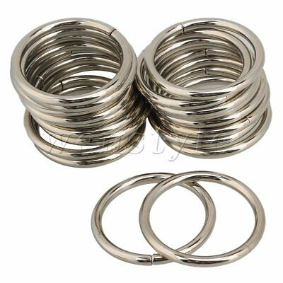 20x Metal Round O Rings Webbing Belts Buckle Slide for Bags Purse Craft 38mm