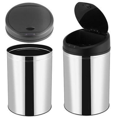 Large Touch Free Sensor Automatic Touchless Trash Can Dustbin Kitchen Office 50L