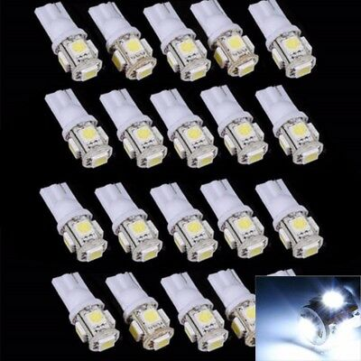 10x T10 194 168 5050 5SMD 12V LED Auto Side Wedge Licht Tail Lampe Weiß