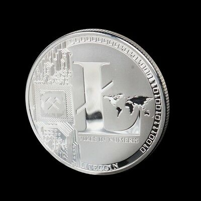 Silver Plated Litecoin Coins Vires in Numeris Commemorative Coin Collection LS